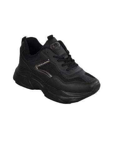 Bestof Bst-053 Siyah-Siyah Unisex Spor Ayakkabı(Yaz) Siyah